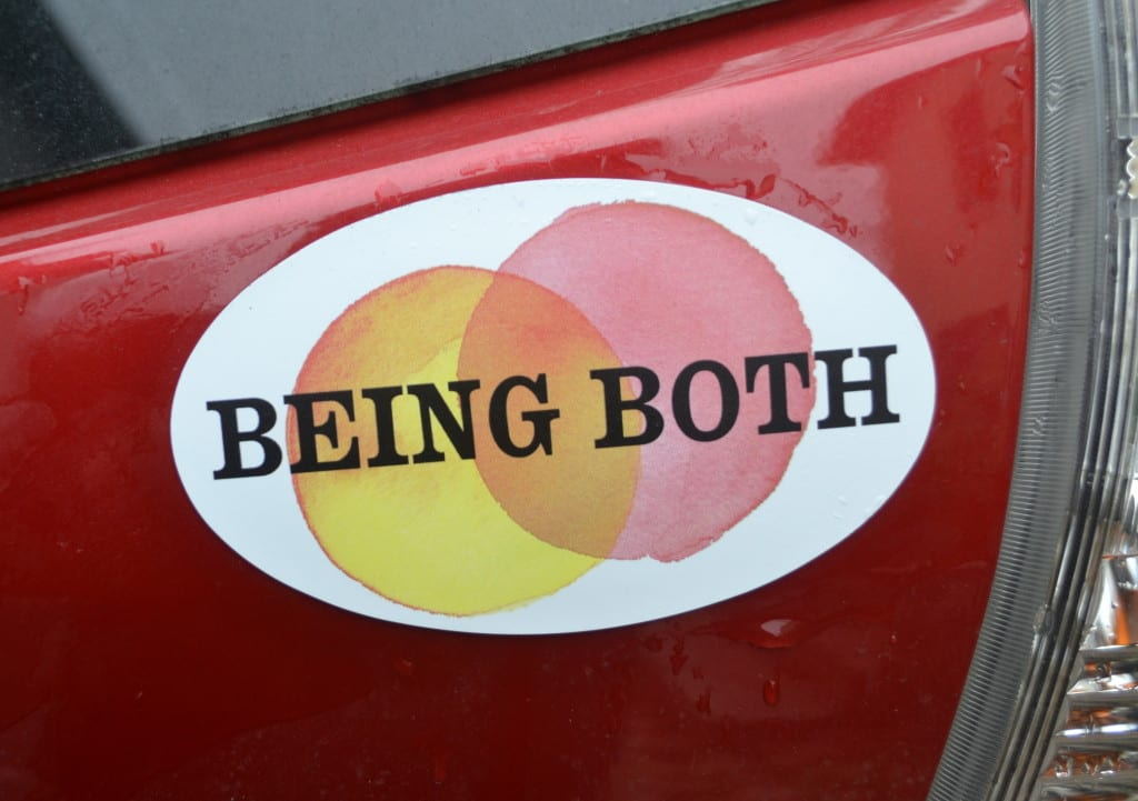 Being Both car magnet, photo Susan Katz Miller