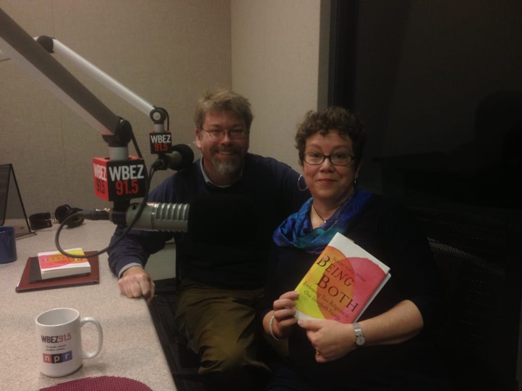 With Producer David Dault, taping a Things Not Seen radio podcast, NPR's WBEZ studios at the Navy Pier, Chicago.